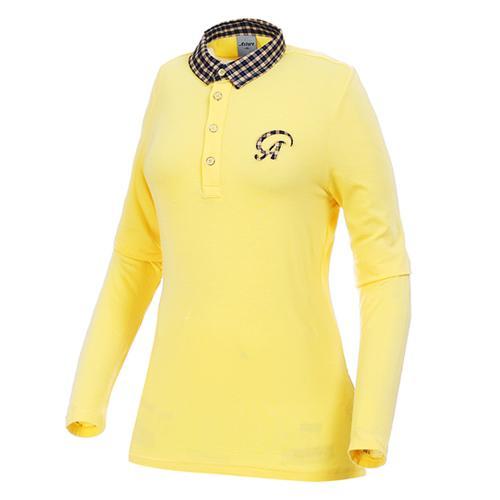 Sak 아스토레 JSG-LSTW10018 골프 캐주얼 폴로티셔츠(YE)