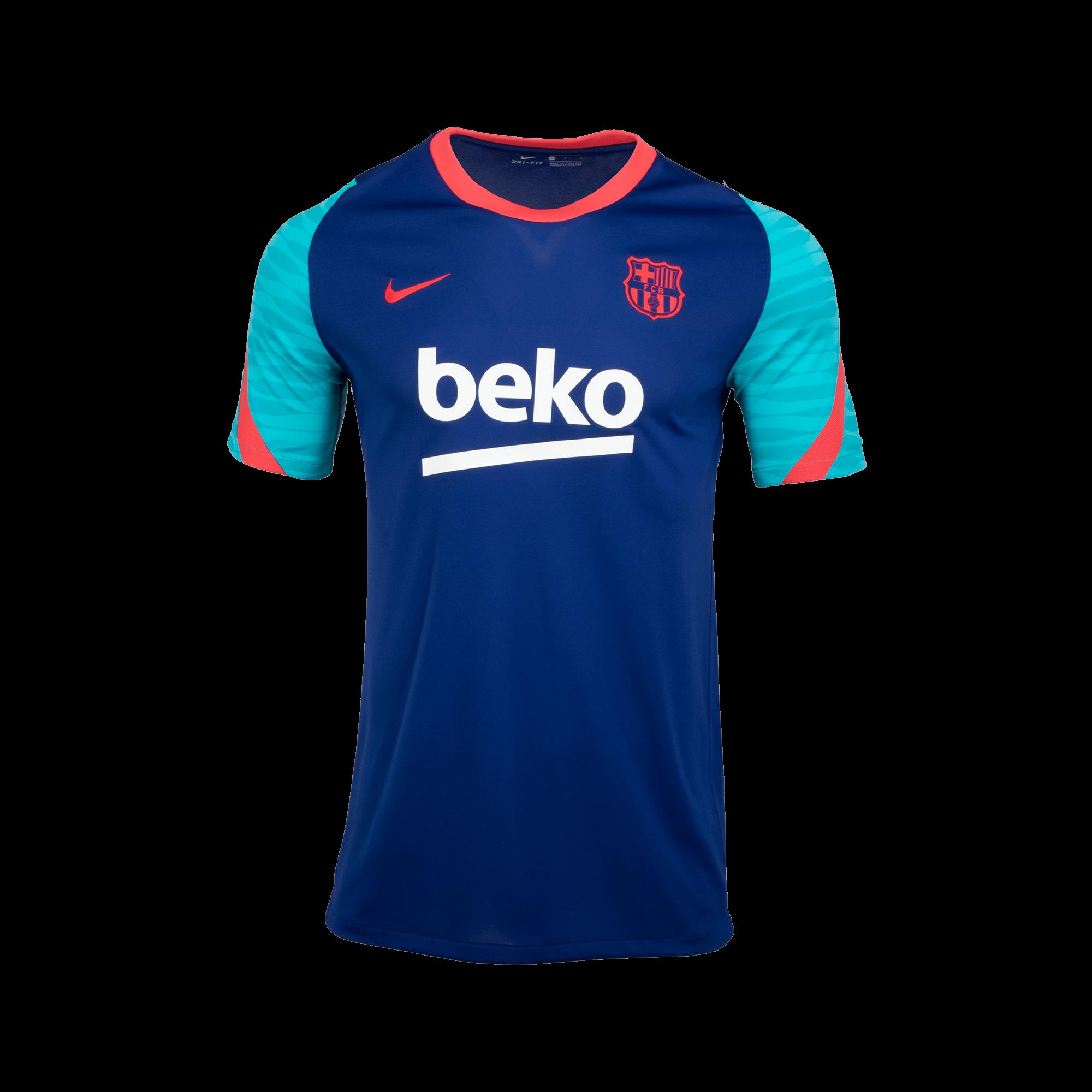 Sak 유소년 나이키 FC 바르셀로나 스트라이크 숏슬리브 탑(CW1698456)