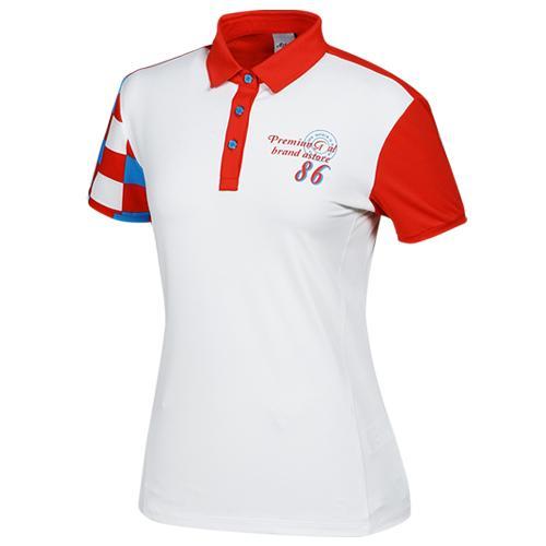 Sak 아스토레 JSG-SSTW10025 골프 캐주얼 카라티셔츠(WH)